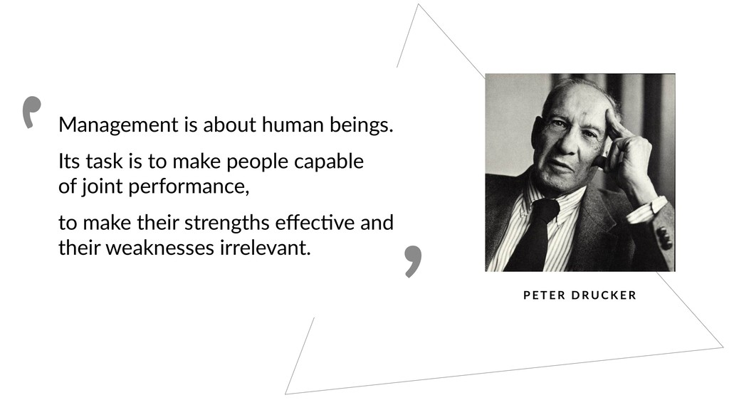 Management is about human beings. Its task is t...