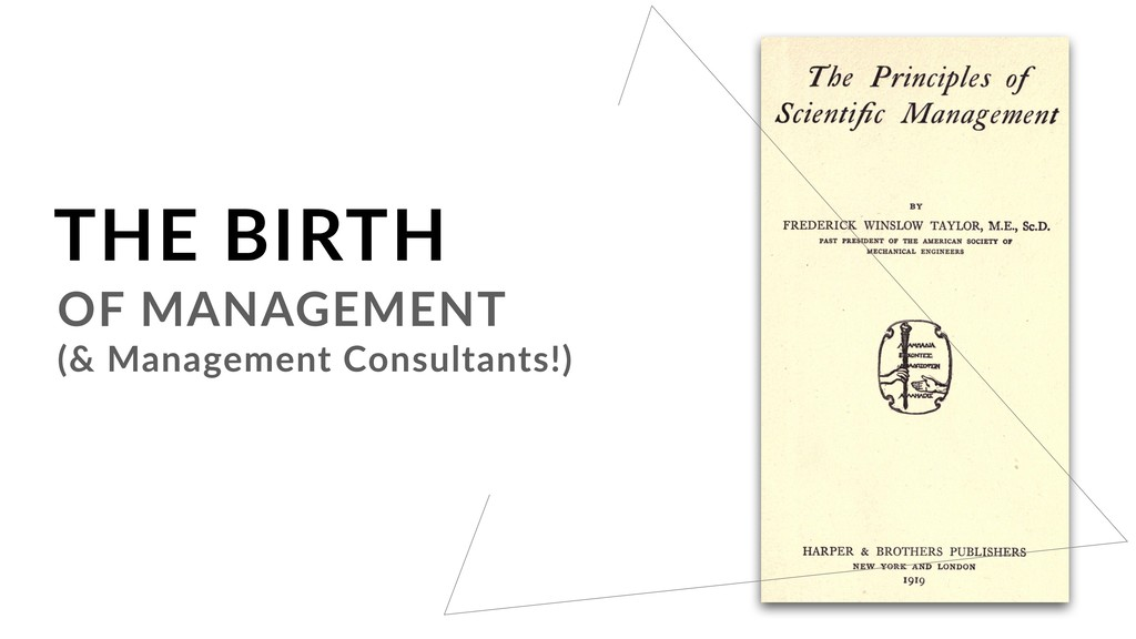 OF MANAGEMENT (& Management Consultants!) THE B...