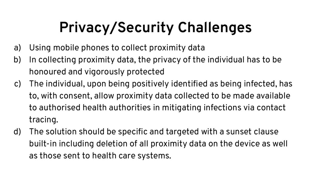 Privacy/Security Challenges a) Using mobile pho...