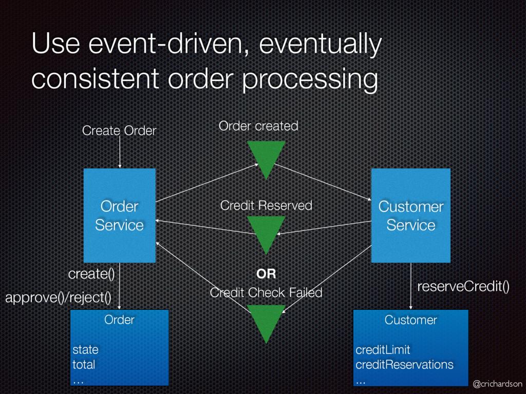 @crichardson Use event-driven, eventually consi...
