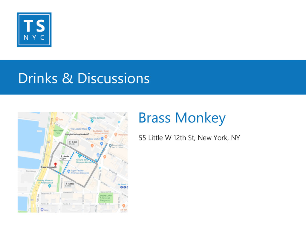 Drinks & Discussions 55 Little W 12th St, New Y...
