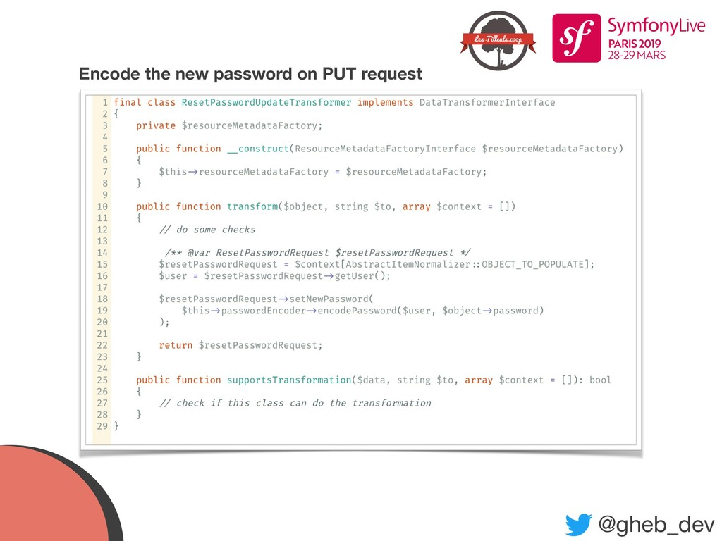 @gheb_dev Encode the new password on PUT request