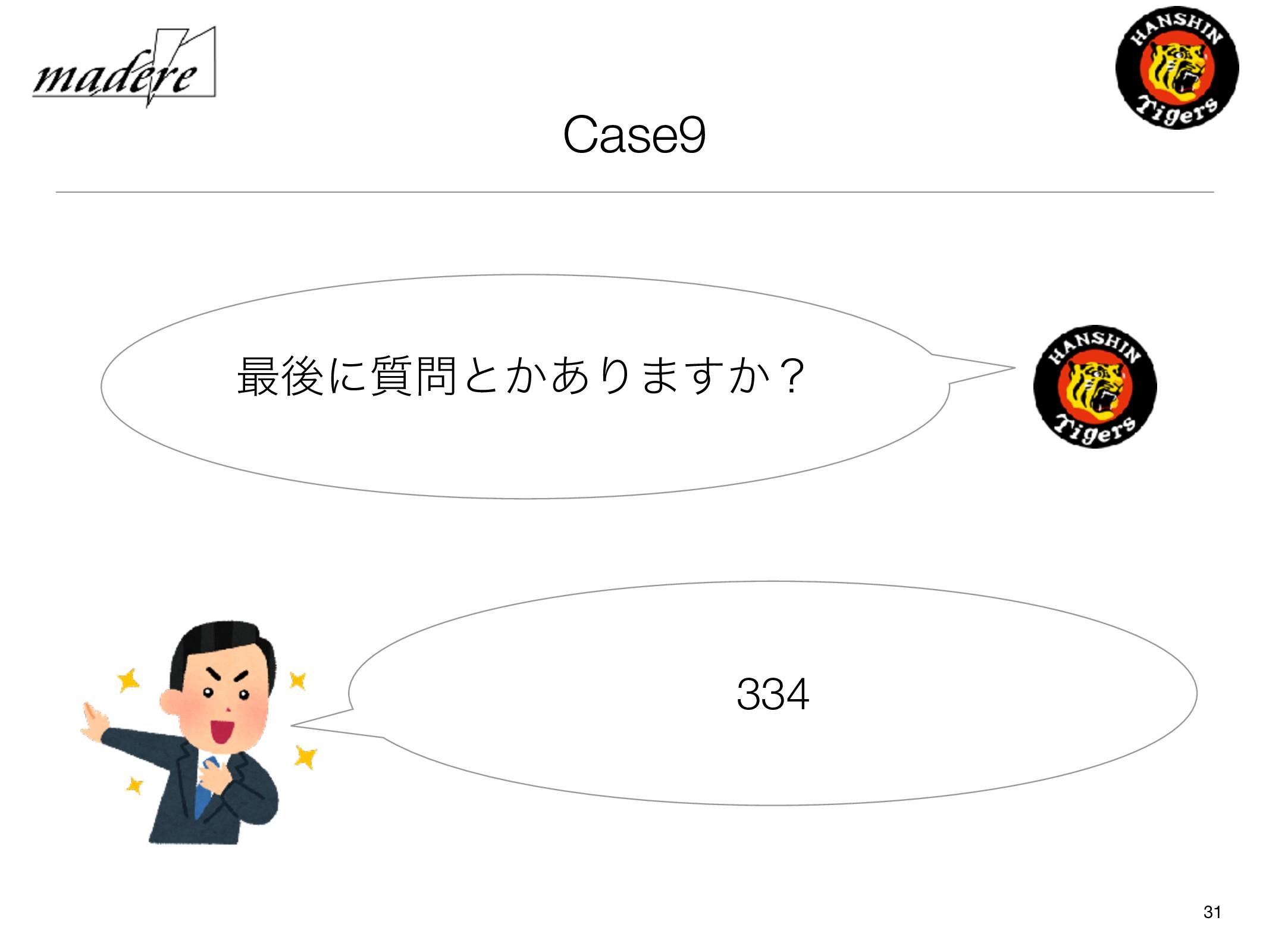 Case9 31 ࠷ޙʹ࣭ͱ͔͋Γ·͔͢ʁ 334
