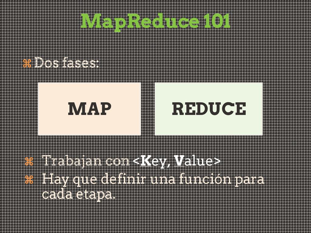 MapReduce 101   <Key, Value>  Hay que defini...