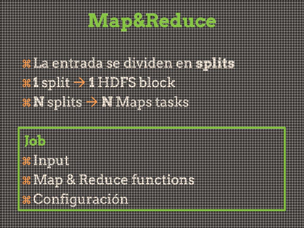 Map&Reduce      Job   