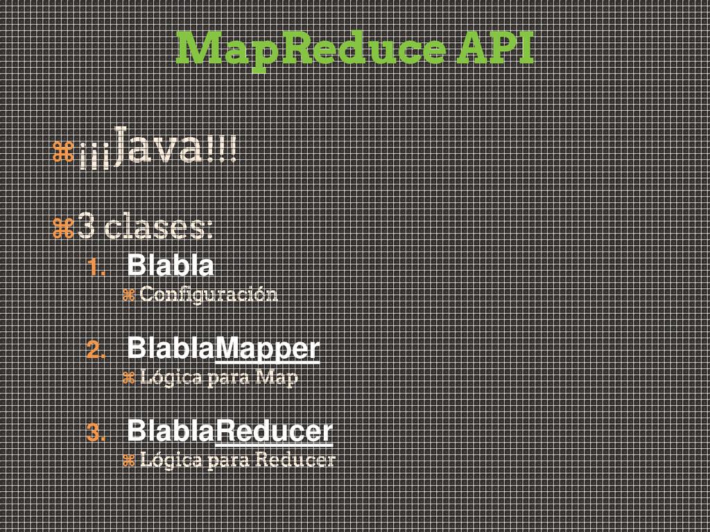 MapReduce API   1. Blabla  2. BlablaMapper ...