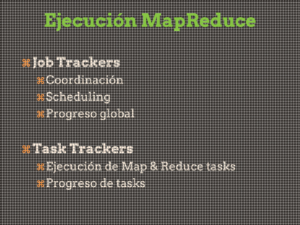 Ejecución MapReduce       