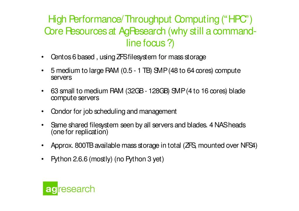 "High Performance/Throughput Computing (""HPC"") C..."