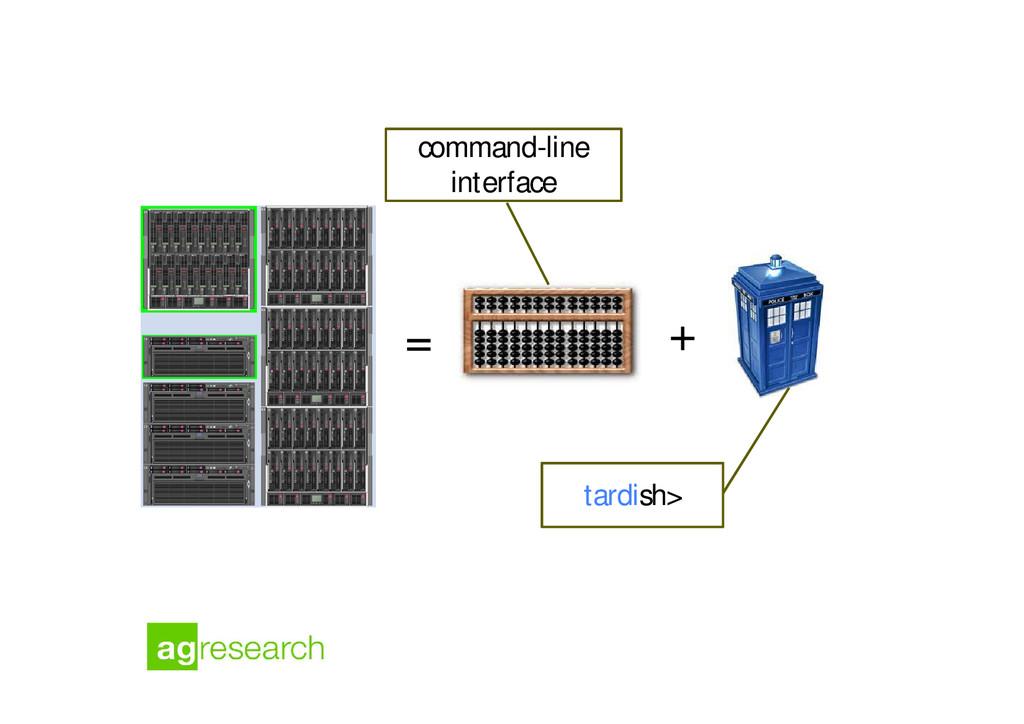 = + command-line interface tardish>