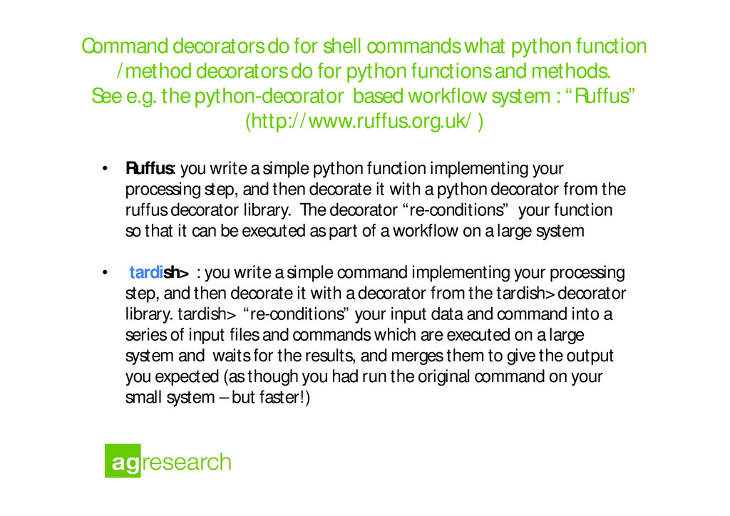 Command decorators do for shell commands what p...