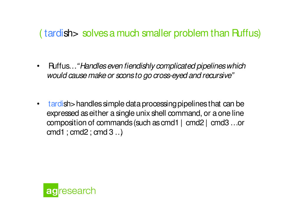"• Ruffus….""Handles even fiendishly complicated ..."