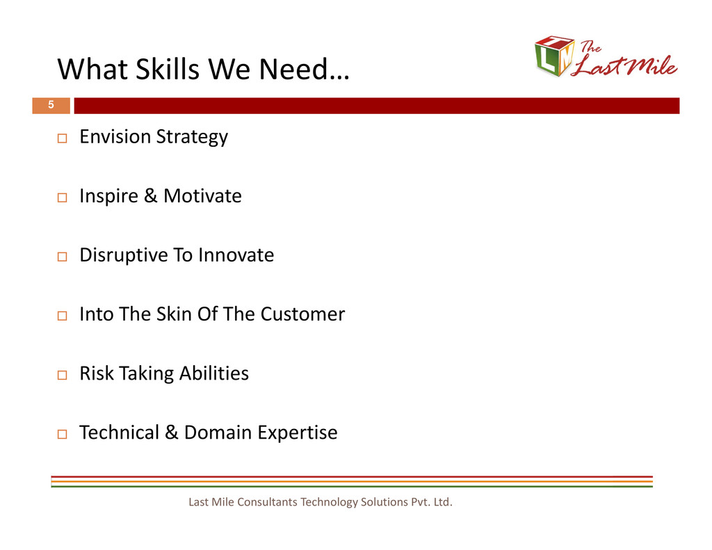 What Skills We Need… 5 Envision Strategy Inspir...
