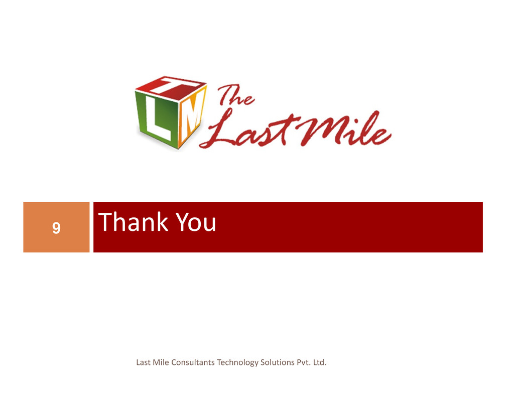 Thank You 9 Last Mile Consultants Technology So...