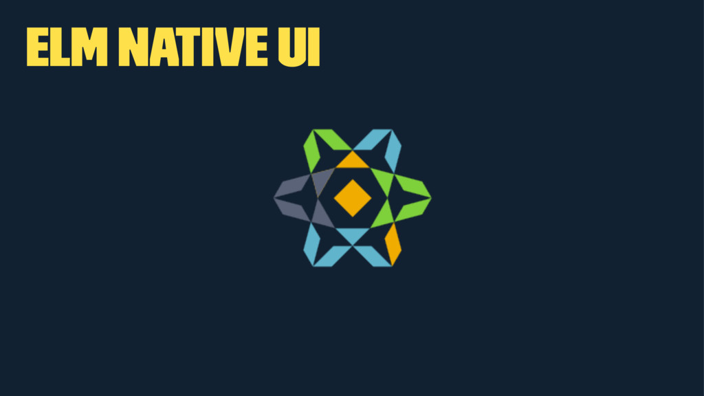 Elm Native UI