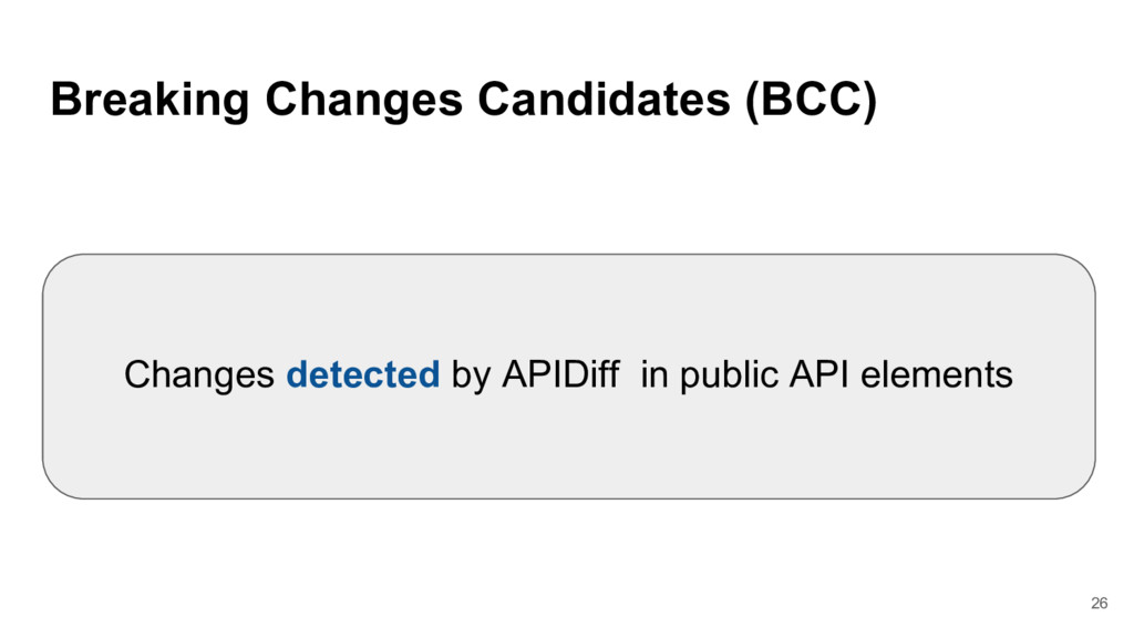 Breaking Changes Candidates (BCC) Changes detec...