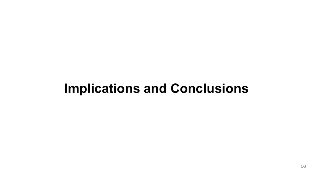 Implications and Conclusions 56