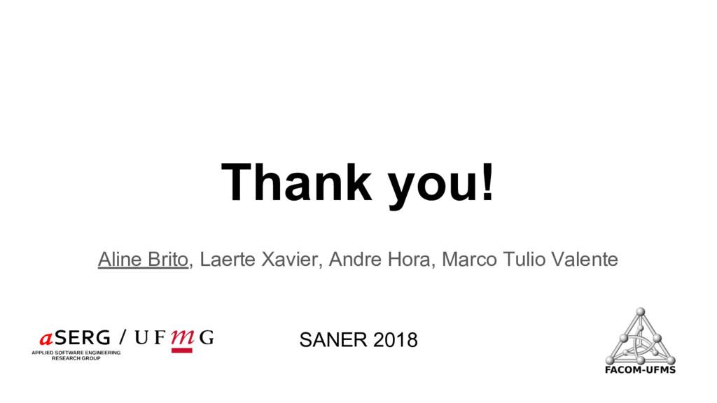 Thank you! Aline Brito, Laerte Xavier, Andre Ho...