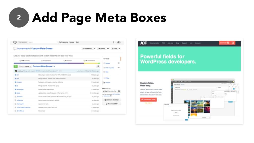 2 Add Page Meta Boxes