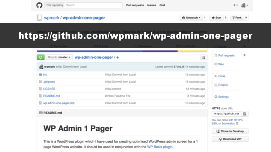 https://github.com/wpmark/wp-admin-one-pager