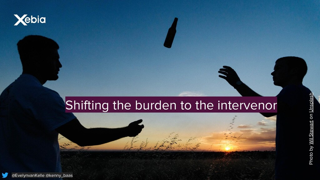 Shifting the burden to the intervenor Photo by ...