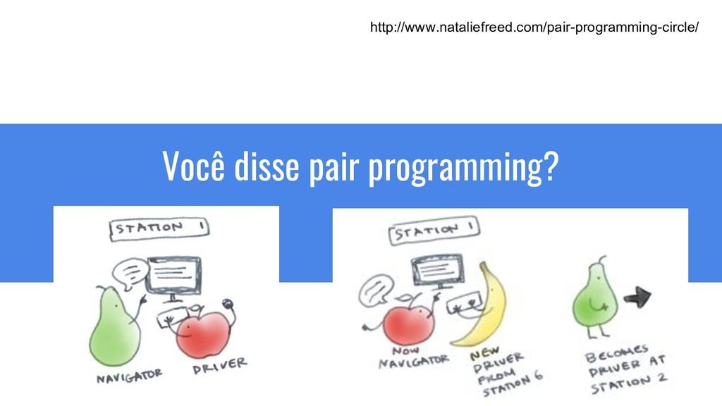 Você disse pair programming? http://www.natalie...