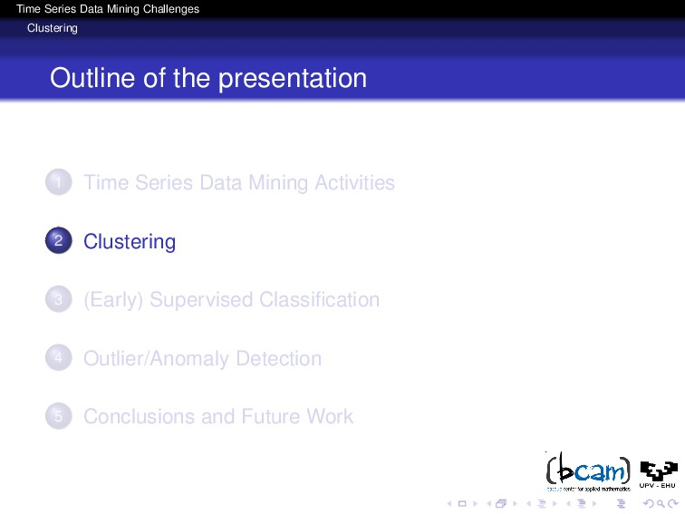 Time Series Data Mining Challenges Clustering O...