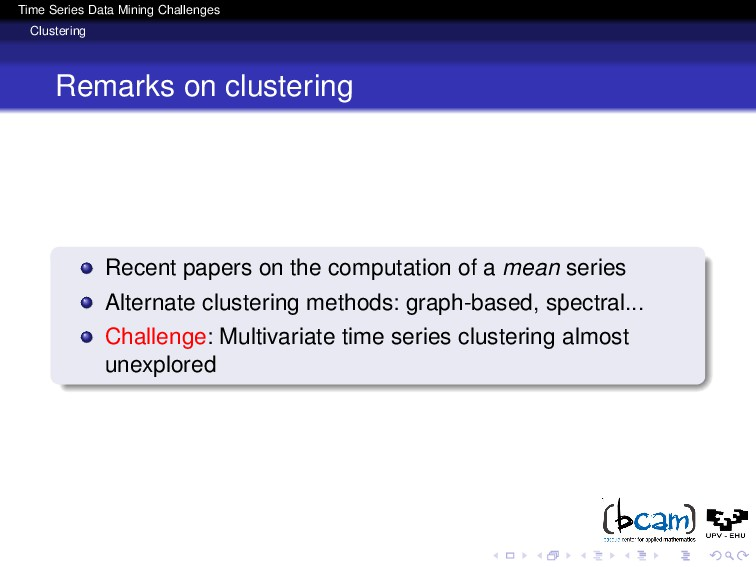 Time Series Data Mining Challenges Clustering R...