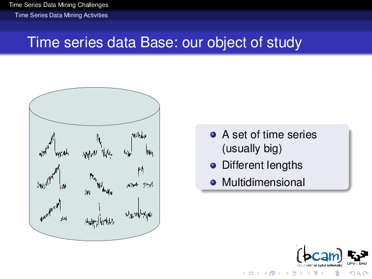 Time Series Data Mining Challenges Time Series ...