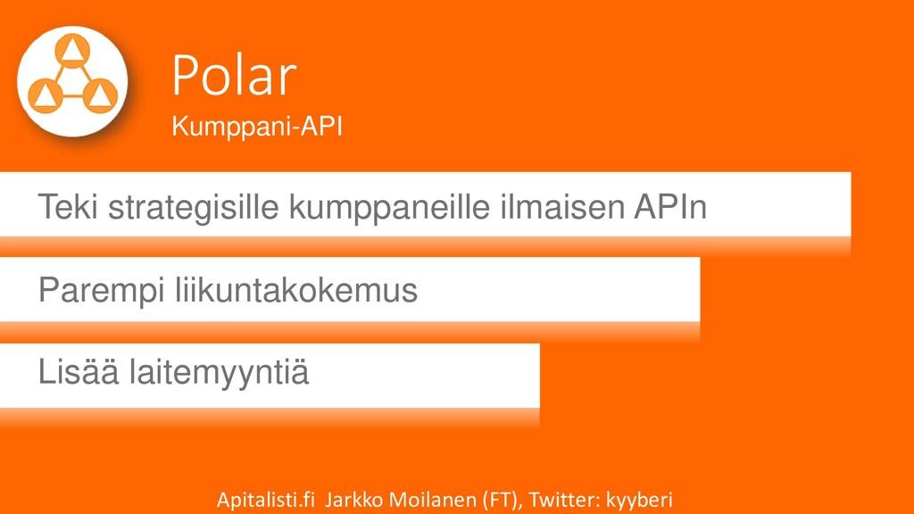 Polar Teki strategisille kumppaneille ilmaisen ...