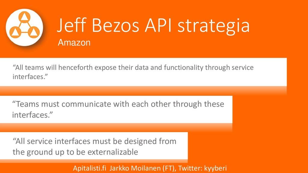 """Jeff Bezos API strategia """"All teams will hencef..."""