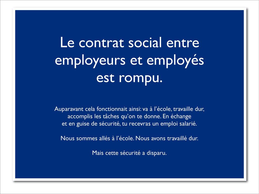 Le contrat social entre employeurs et employés ...