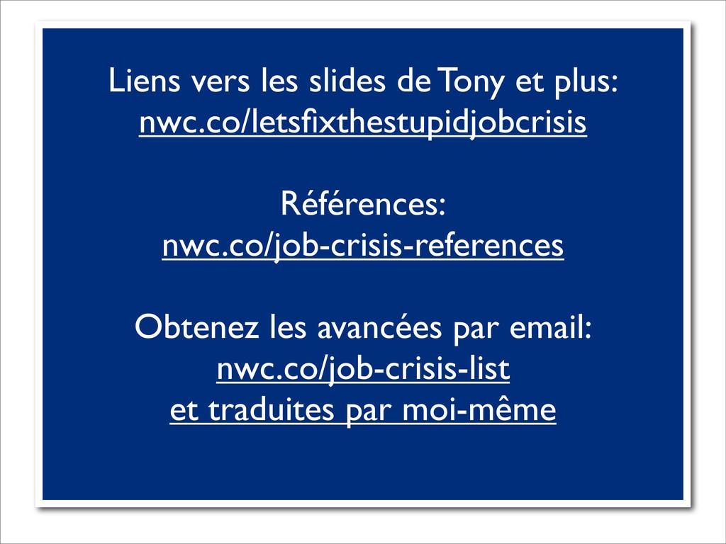 Liens vers les slides de Tony et plus: nwc.co/l...