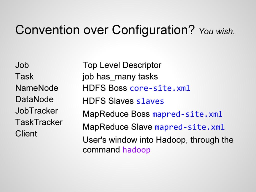 Top Level Descriptor job has_many tasks HDFS Bo...