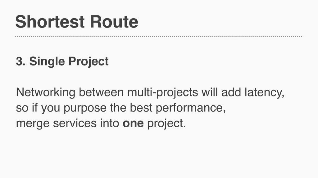 Shortest Route 3. Single Project Networking bet...