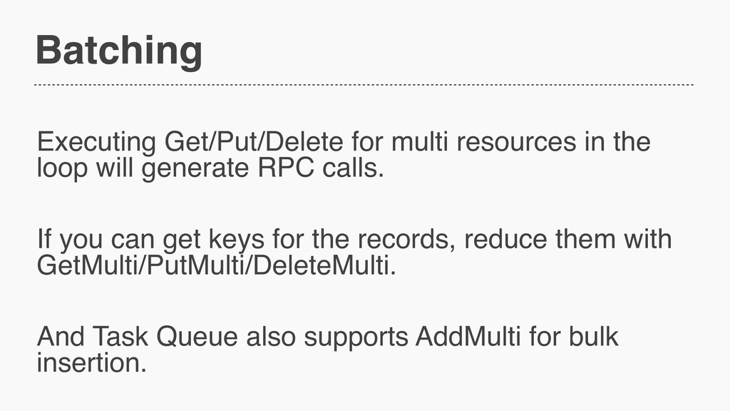 Batching Executing Get/Put/Delete for multi res...