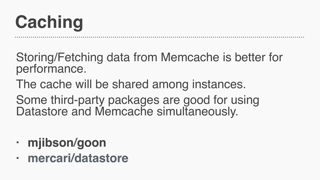 Caching Storing/Fetching data from Memcache is ...
