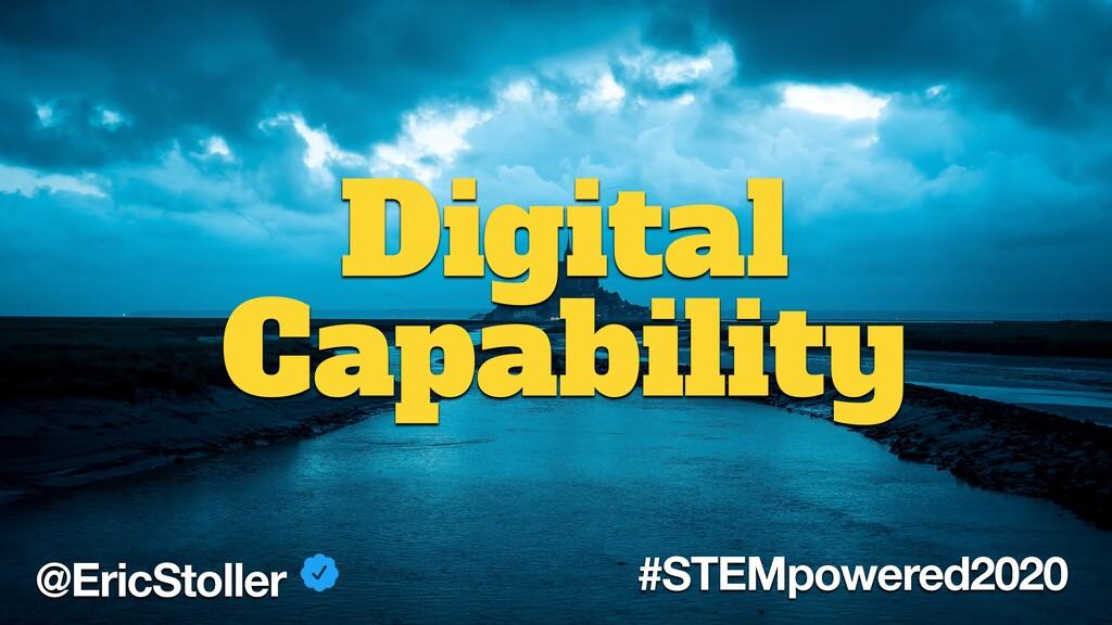 @EricStoller #STEMpowered2020 Digital Capability
