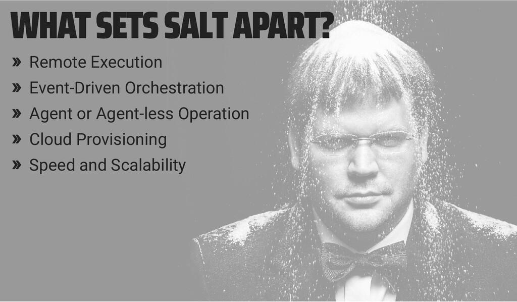WHAT SETS SALT APART? WHAT SETS SALT APART? » R...