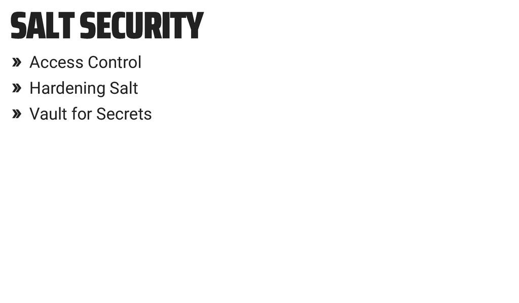 SALT SECURITY SALT SECURITY » Access Control » ...