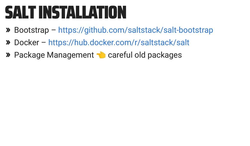 SALT INSTALLATION SALT INSTALLATION » Bootstrap...
