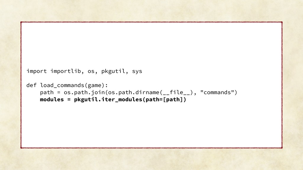 import importlib, os, pkgutil, sys def load_com...
