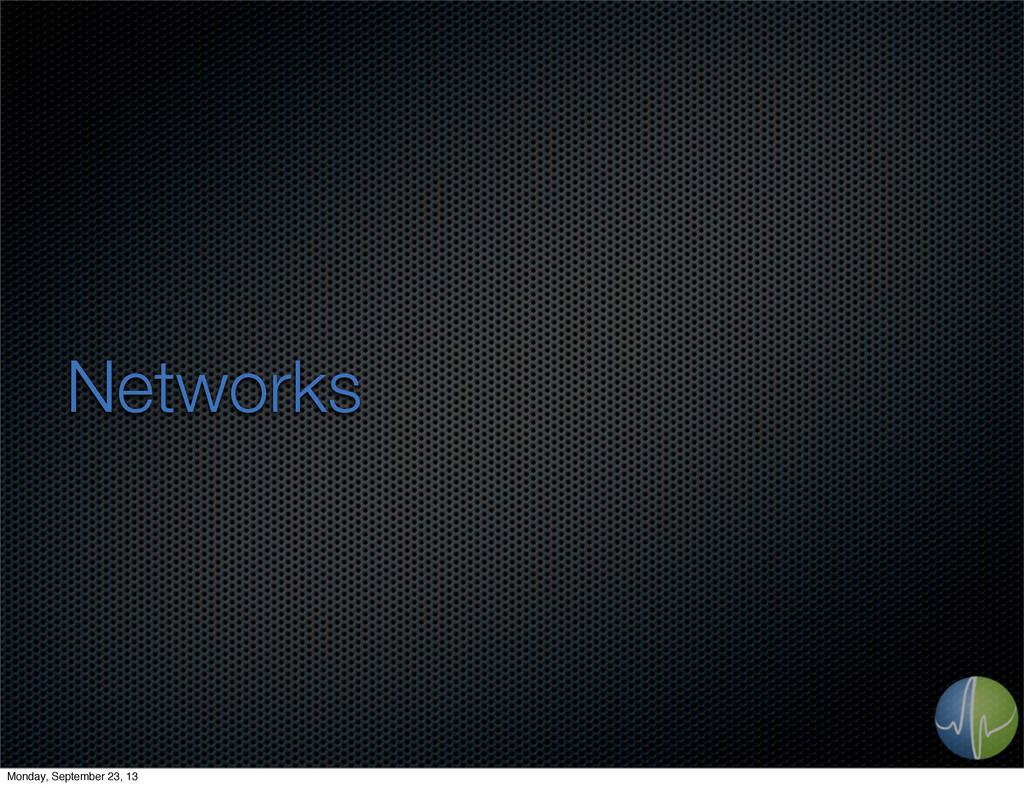 Networks Monday, September 23, 13