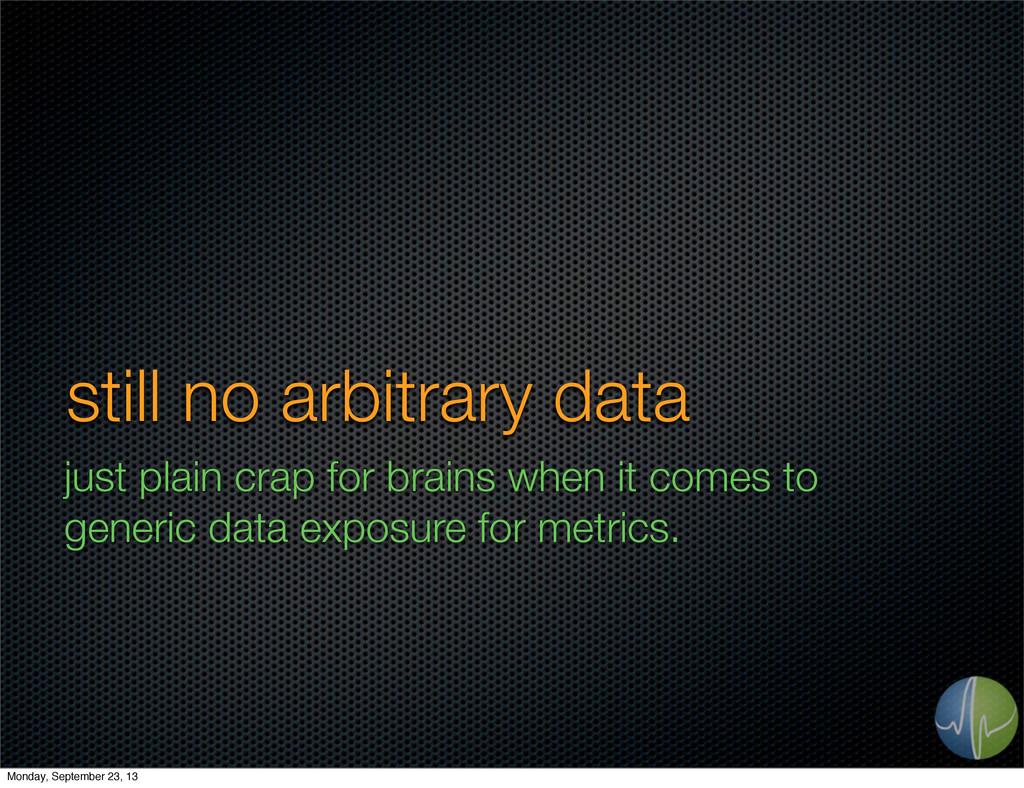 still no arbitrary data just plain crap for bra...