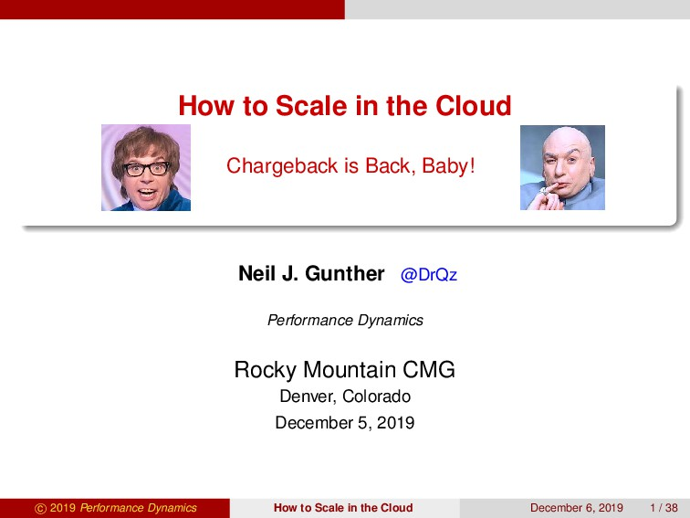 How to Scale in the Cloud Chargeback is Back, B...