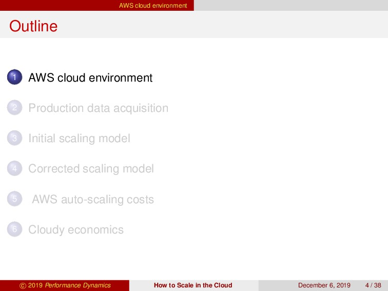 AWS cloud environment Outline 1 AWS cloud envir...