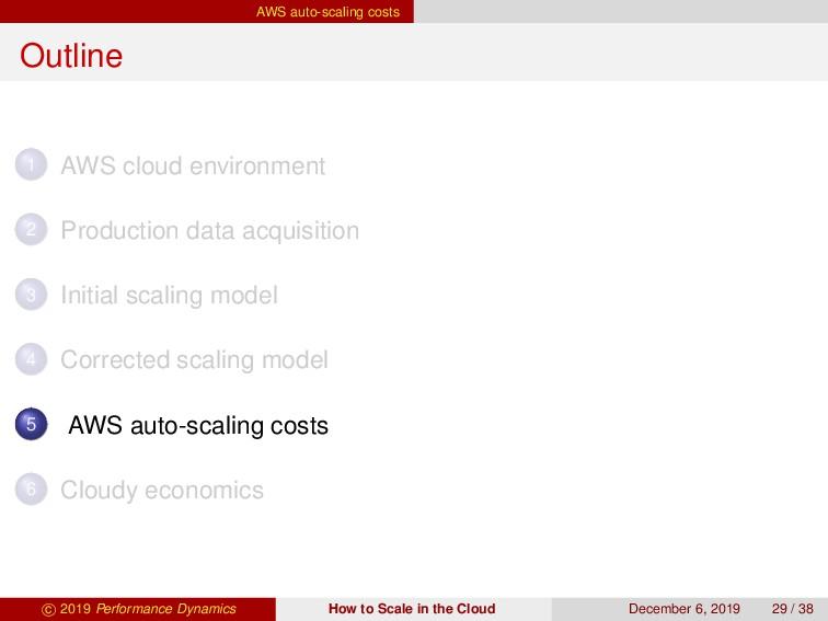 AWS auto-scaling costs Outline 1 AWS cloud envi...