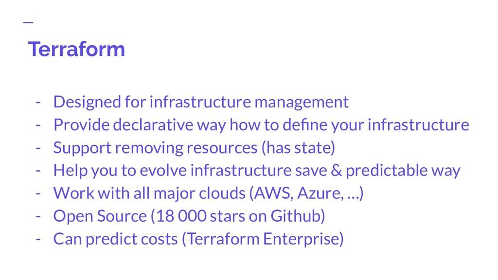 Terraform - Designed for infrastructure managem...