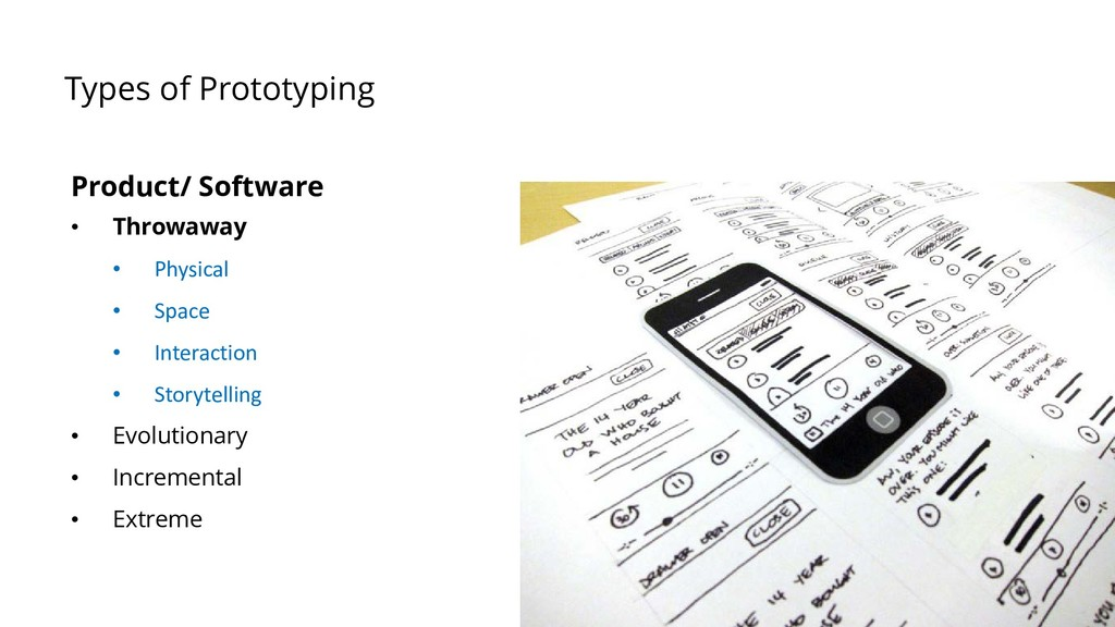 Types of Prototyping Product/ Software • Throwa...