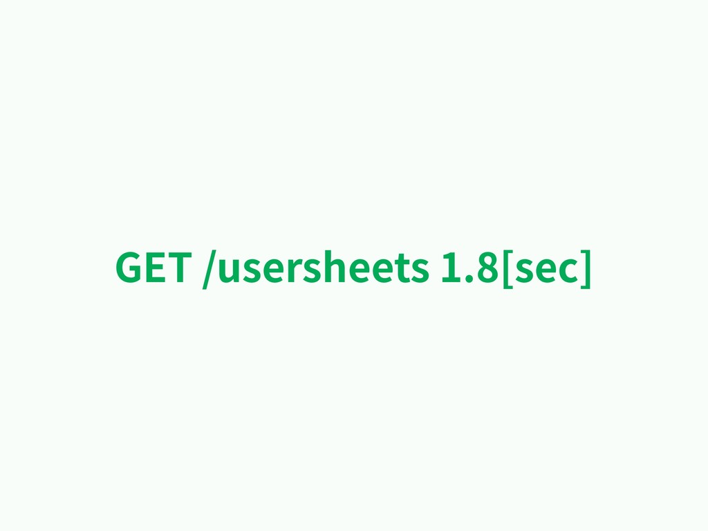 GET /usersheets 1.8[sec]
