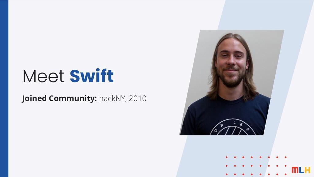 Meet Swift Joined Community: hackNY, 2010